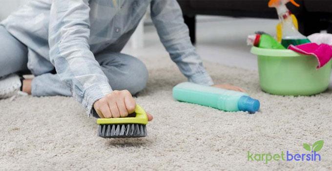 cara membersihkan karpet polyester